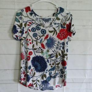 Loft Vintage Soft Floral Shirt Size S